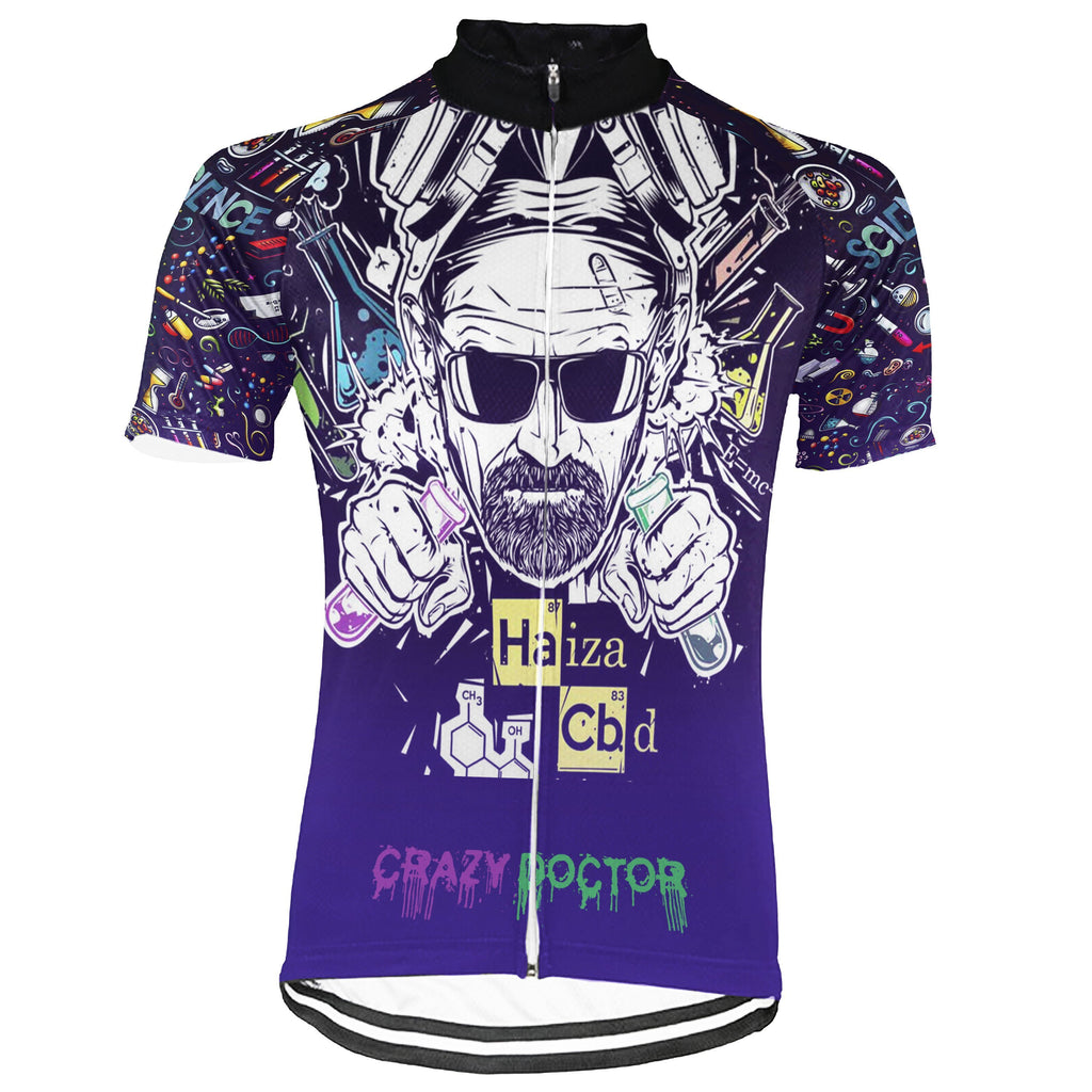 Crazy Short Sleeve Cycling Jersey for Men