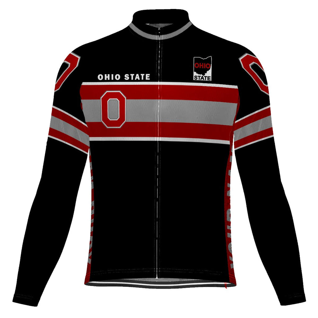 Customized Ohio Long Sleeve Cycling Jersey for Men