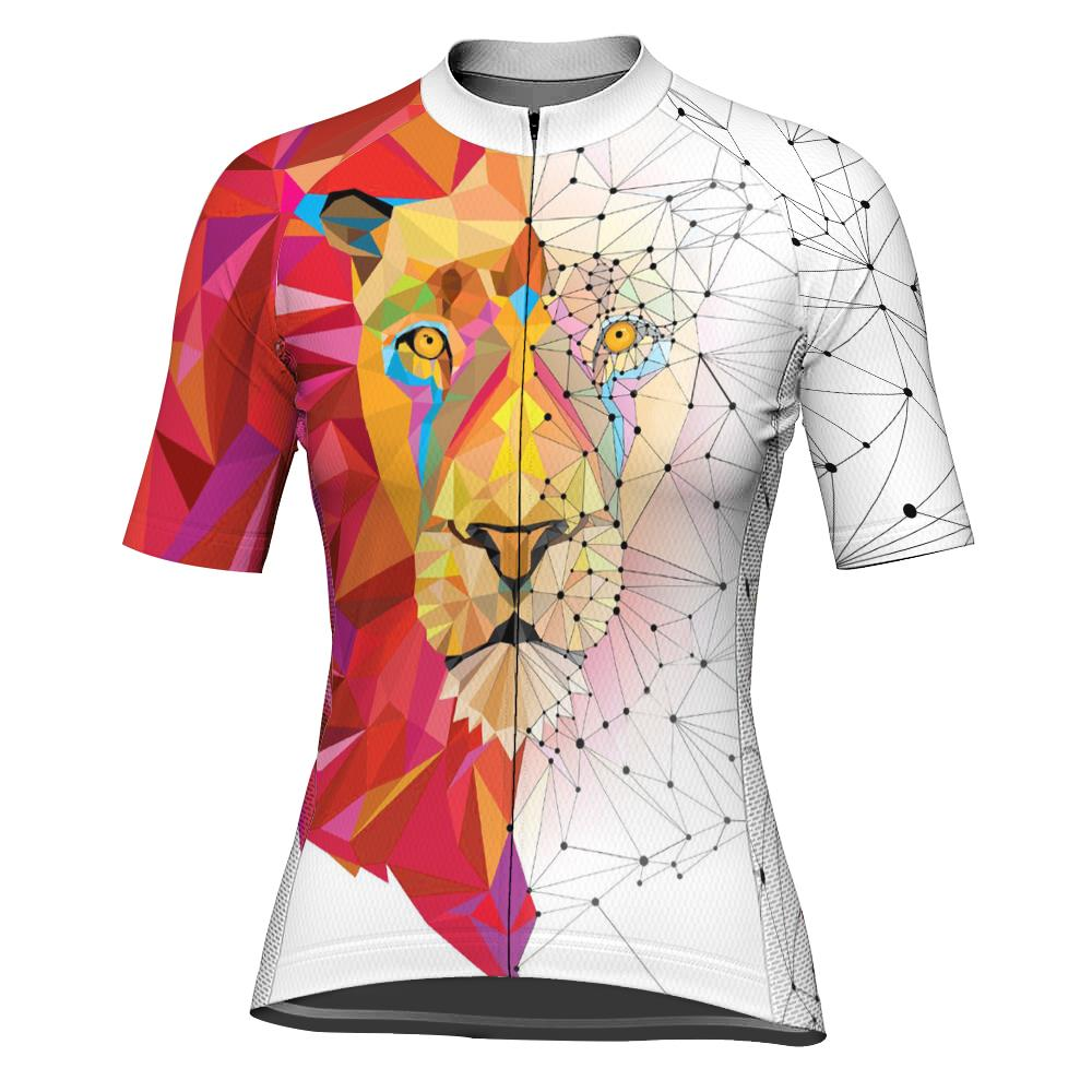Lion Short Sleeve Cycling Jersey for Women