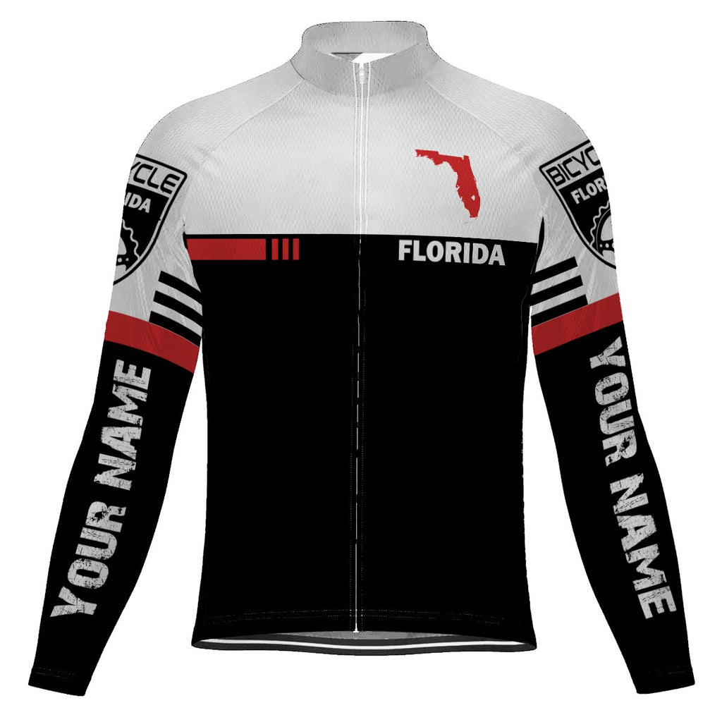Customized Florida Long Sleeve Cycling Jersey for Men