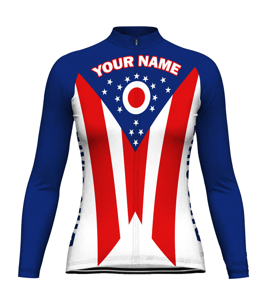 Customized Ohio Long Sleeve Cycling Jersey for Women