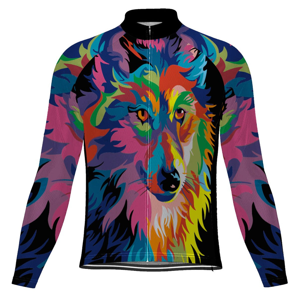 Customized Wolf Long Sleeve Cycling Jersey for Men