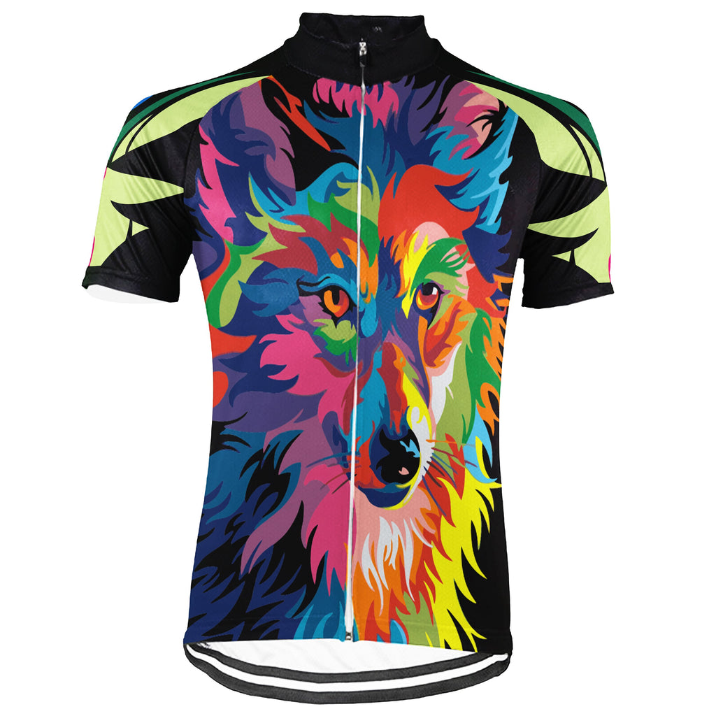 Customized Wolf Short Sleeve Cycling Jersey for Men