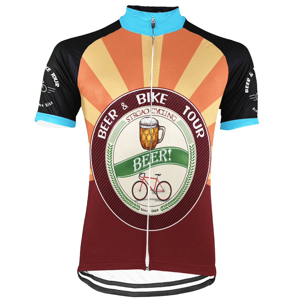 Customized Beer Short Sleeve Cycling Jersey for Men