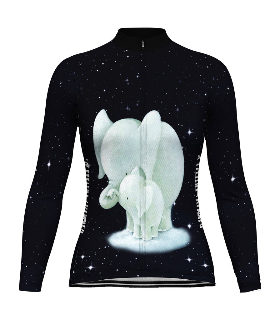 Customized Elephant Long Sleeve Cycling Jersey for Women