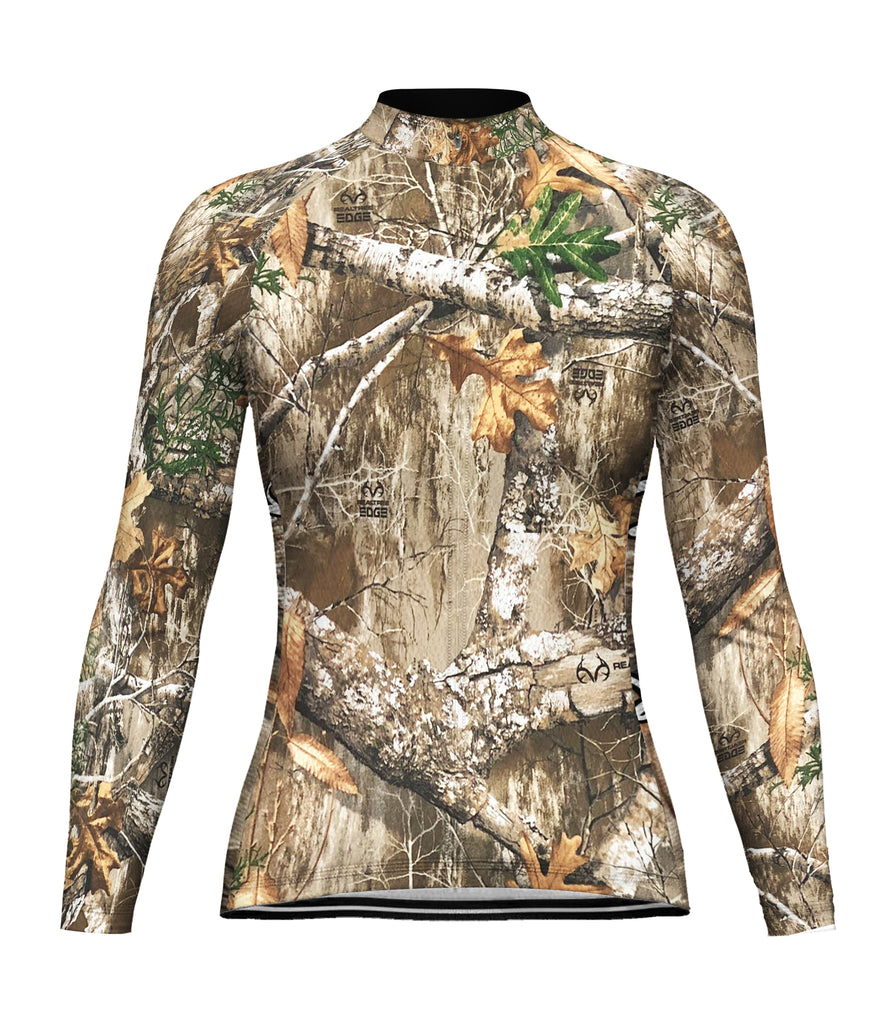 Customized Camo Long Sleeve Cycling Jersey for Women