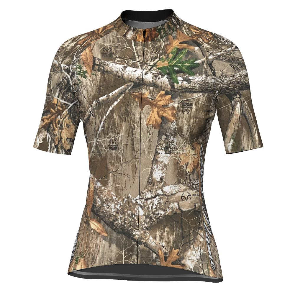 Customized Camo Short Sleeve Cycling Jersey for Women