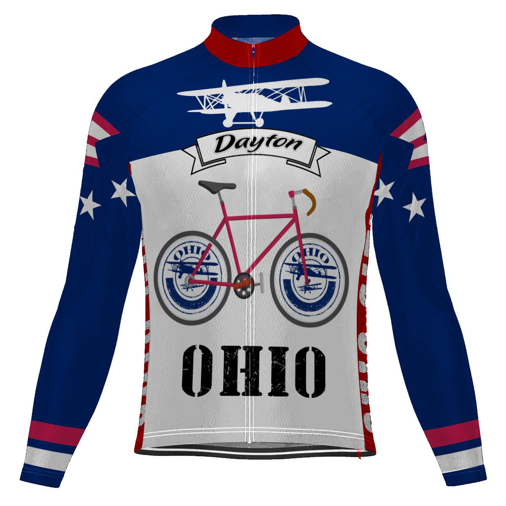 Ohio City Long Sleeve Cycling Jersey for Men