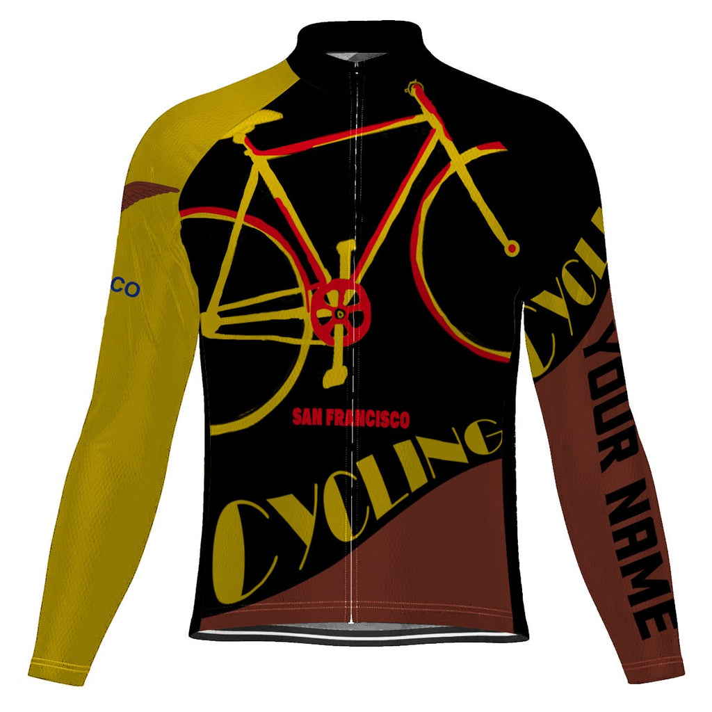 Customized San Francisco Long Sleeve Cycling Jersey for Men