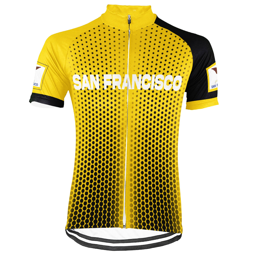 Customized San Francisco Short Sleeve Cycling Jersey for Men
