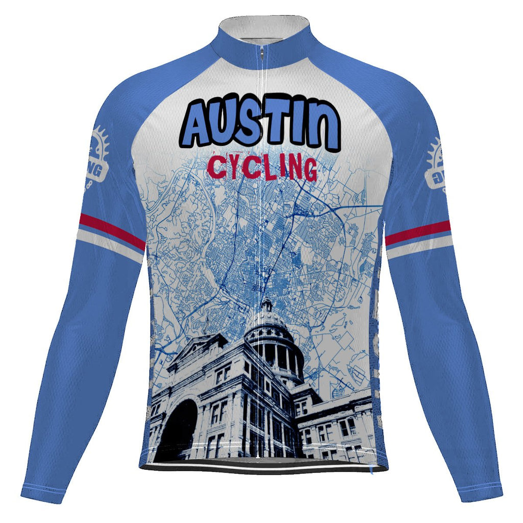 Austin Long Sleeve Cycling Jersey for Men