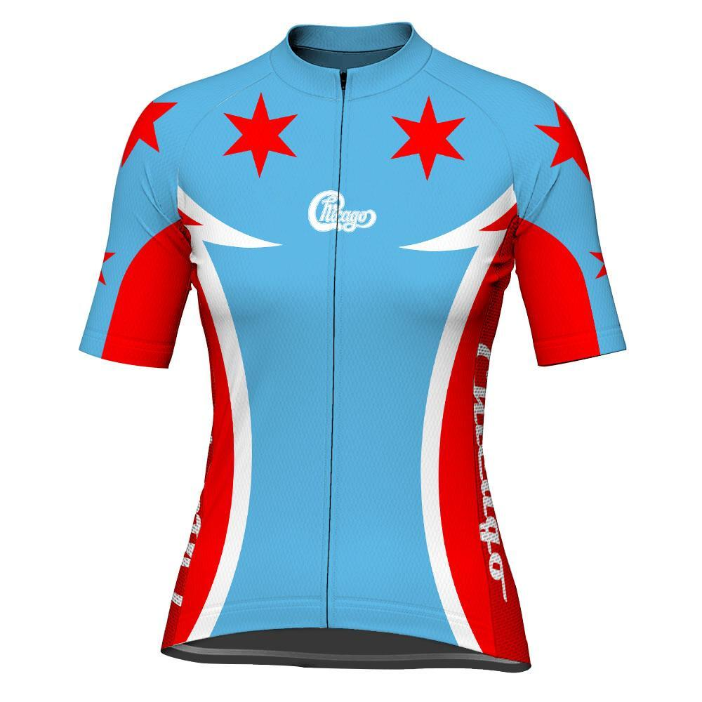 Chicago Short Sleeve Cycling Jersey for Women