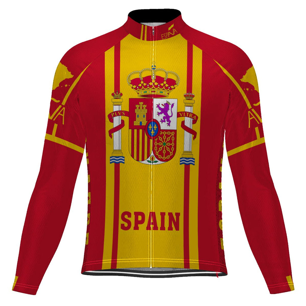 Spain Long Sleeve Cycling Jersey for Men