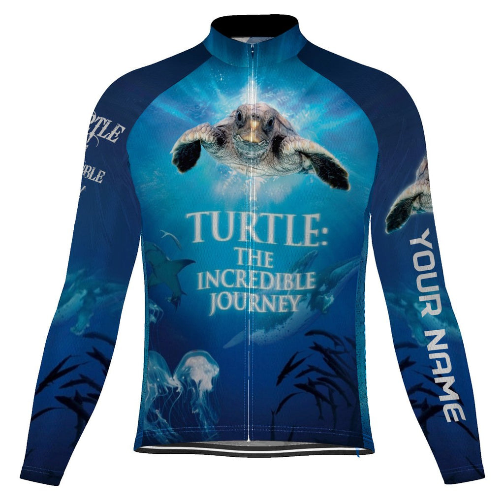 Customized Turtle Long Sleeve Cycling Jersey for Men