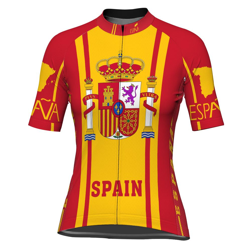 Spain Short Sleeve Cycling Jersey for Women
