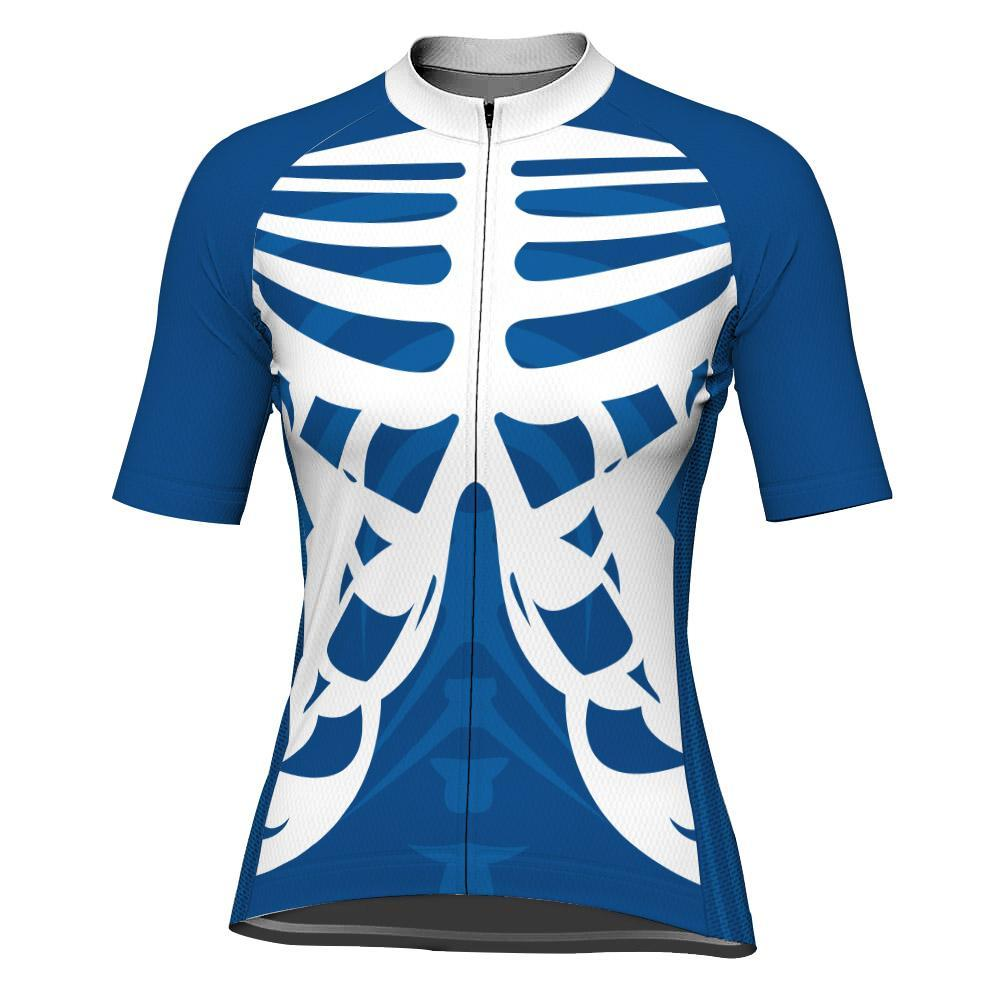 Blue Short Sleeve Cycling Jersey for Women