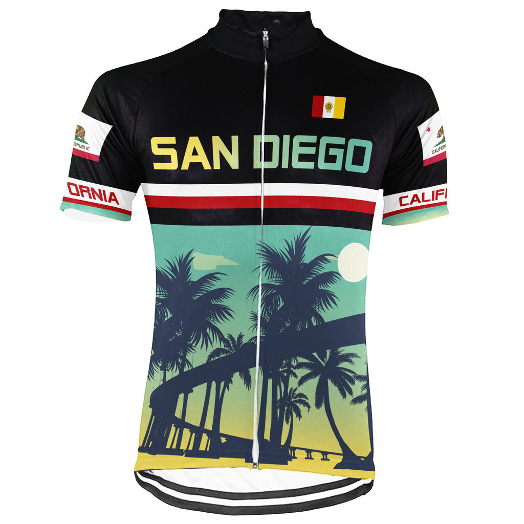 San Diego Short Sleeve Cycling Jersey for Men
