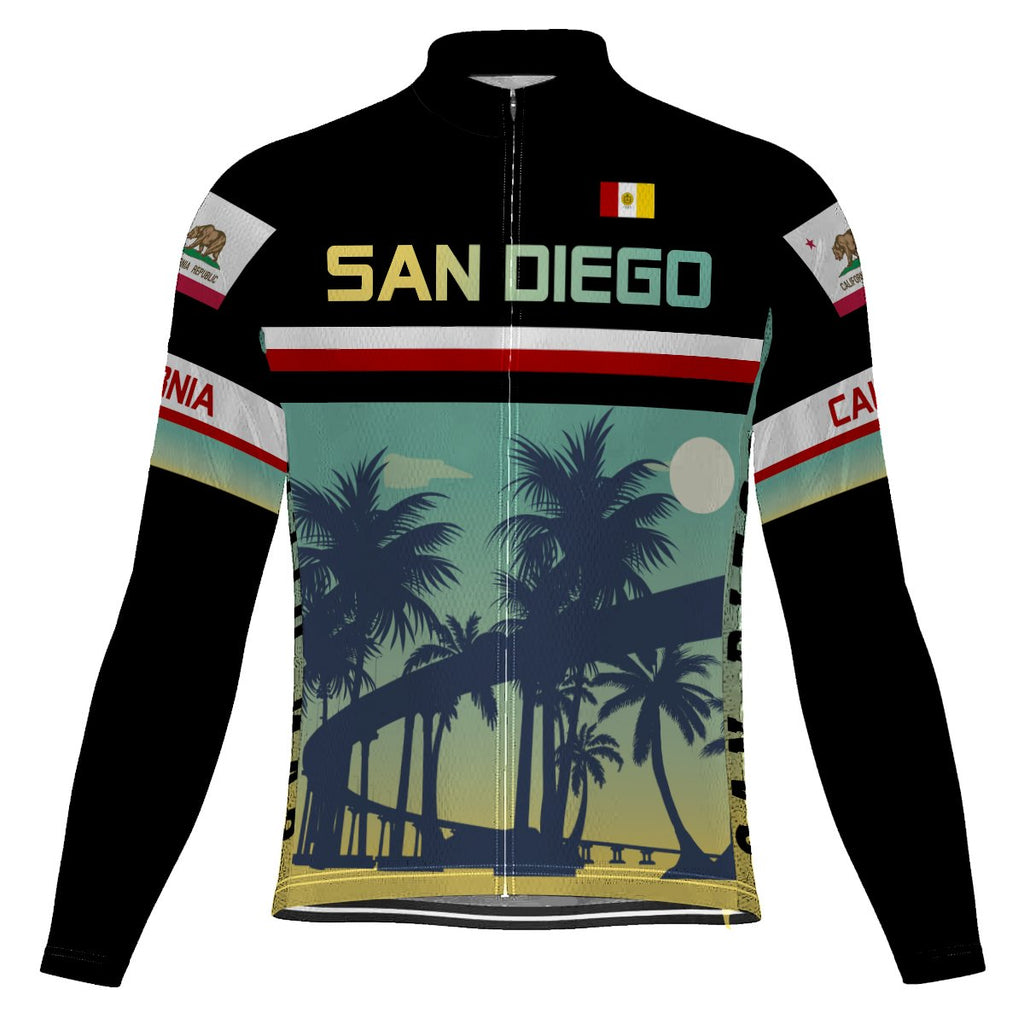 San Diego Long Sleeve Cycling Jersey for Men
