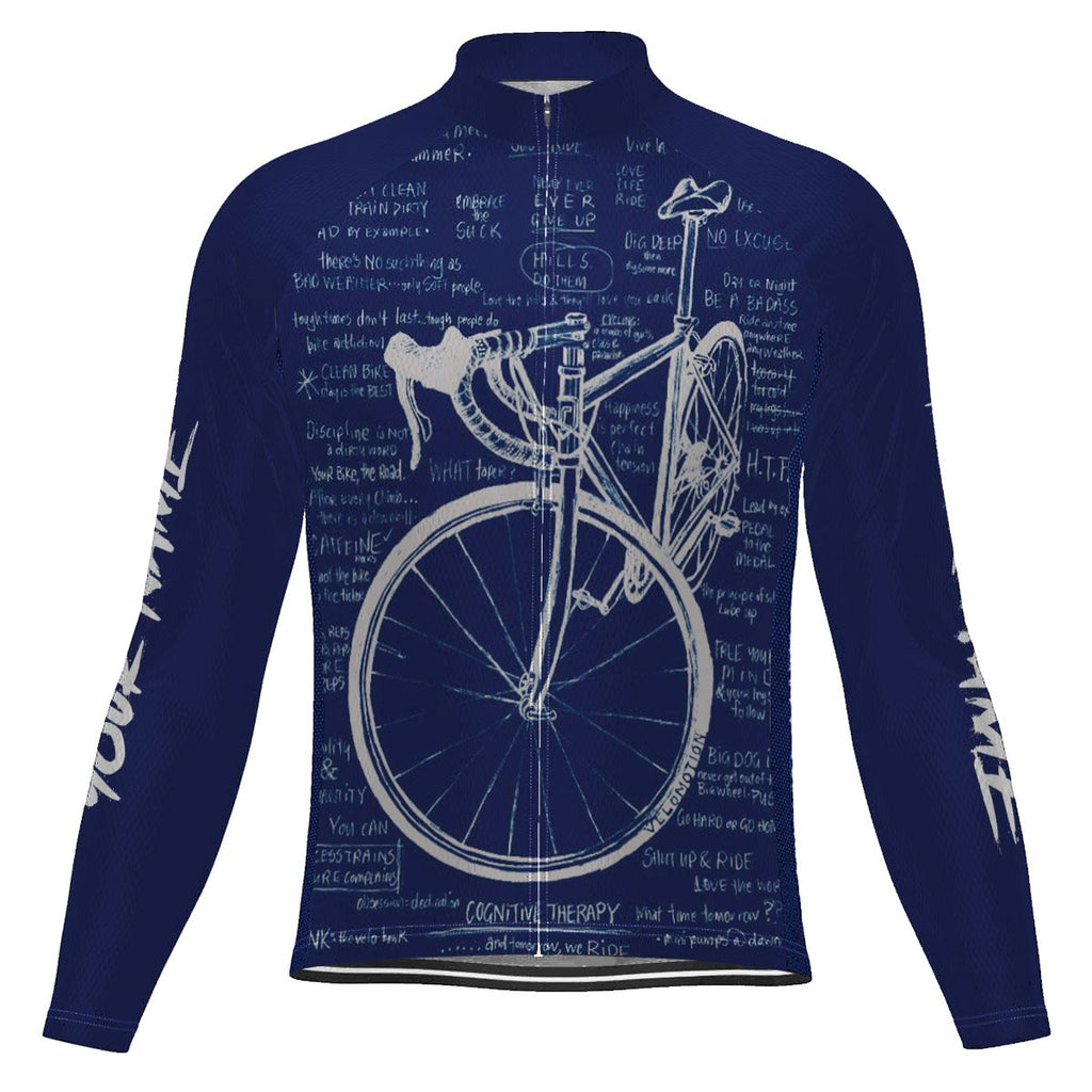 Customized Cycology Long Sleeve Cycling Jersey for Men