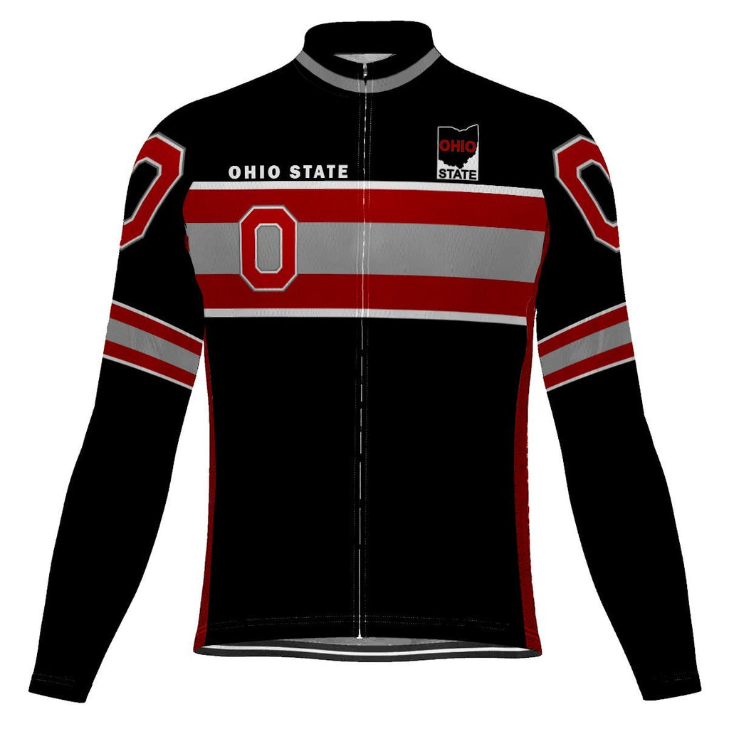 Awesome Ohio State Long Sleeve Cycling Jersey for Men
