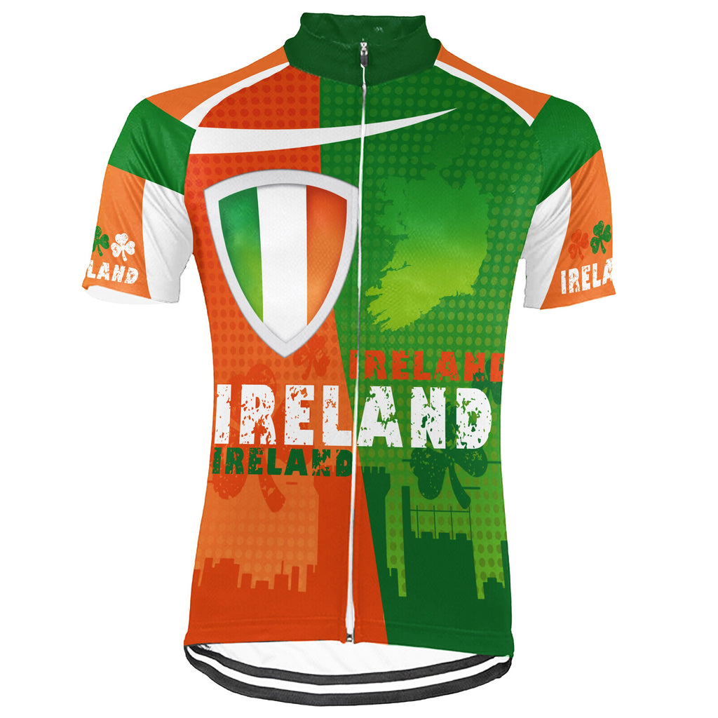 Customized Ireland Short Sleeve Cycling Jersey for Men