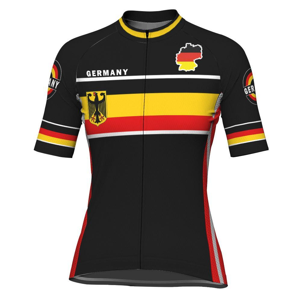 Germany Short Sleeve Cycling Jersey for Women