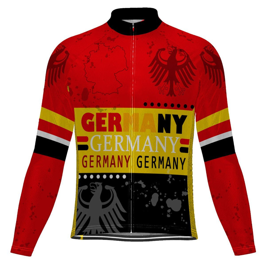 Germany Long Sleeve Cycling Jersey for Men