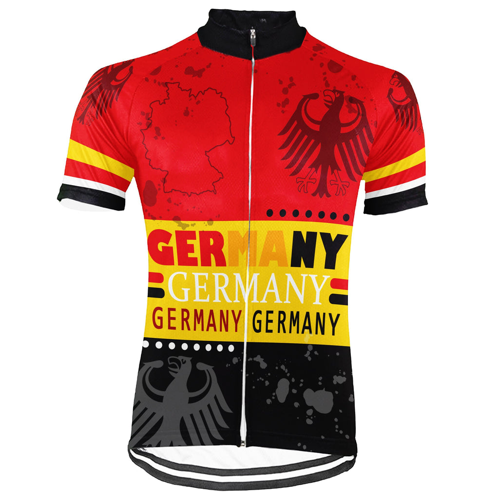 Germany Short Sleeve Cycling Jersey for Men