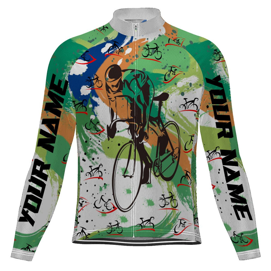 Customized Funny Long Sleeve Cycling Jersey for Men