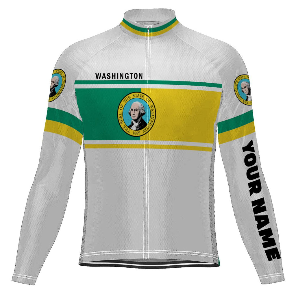 Customized Washington Long Sleeve Cycling Jersey for Men
