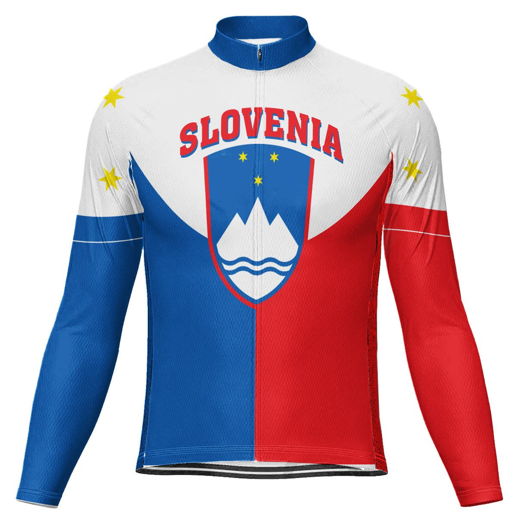 Customized Slovenia Long Sleeve Cycling Jersey for Men