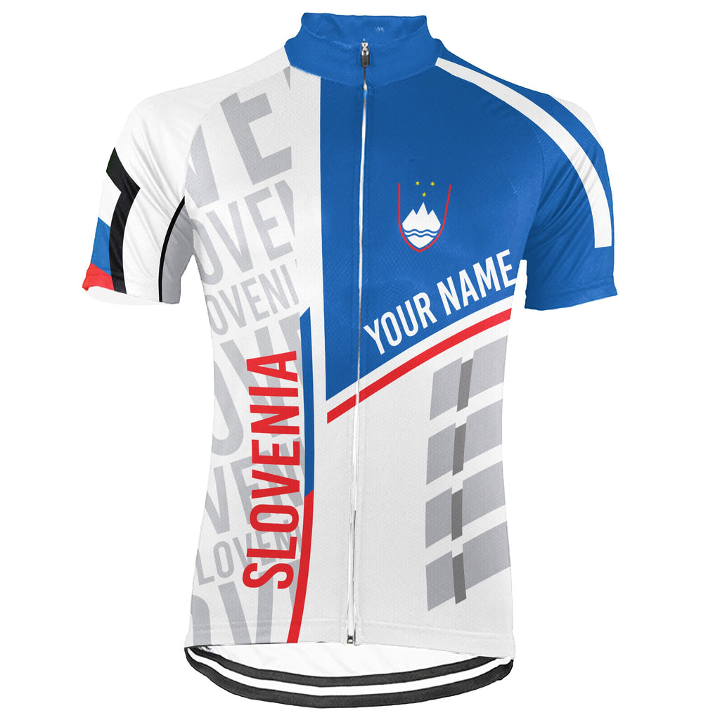 Customized Slovenia Short Sleeve Cycling Jersey for Men