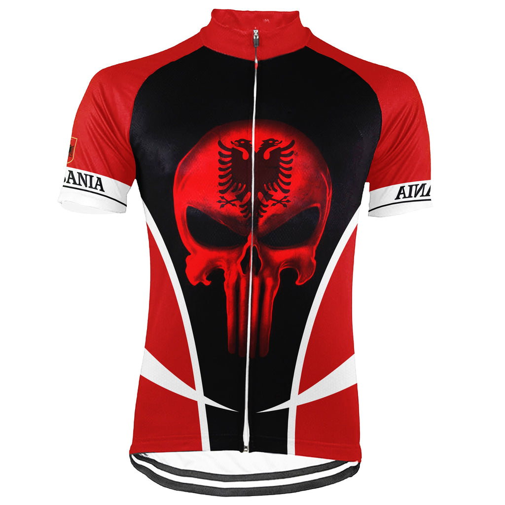Customized Albania Short Sleeve Cycling Jersey for Men