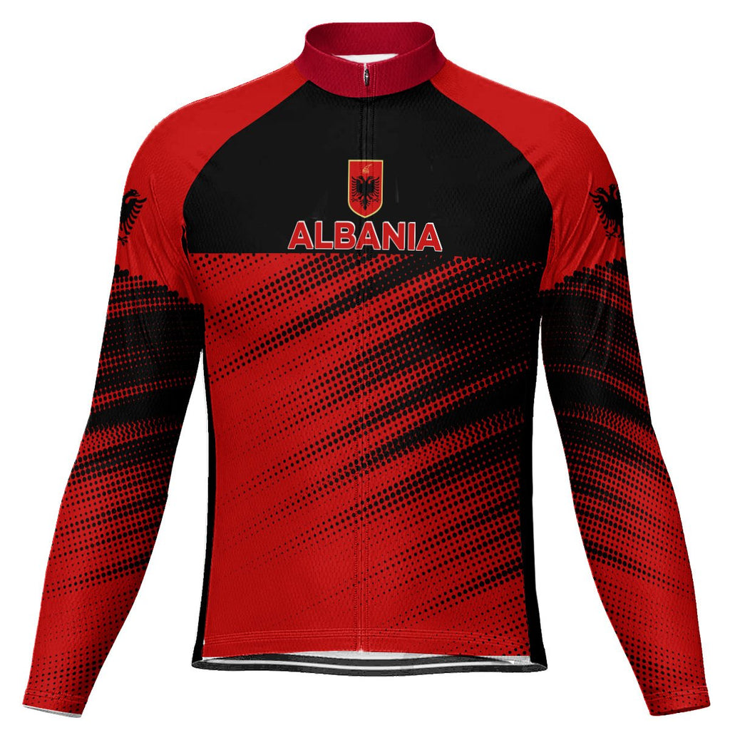 Customized Albania Long Sleeve Cycling Jersey for Men
