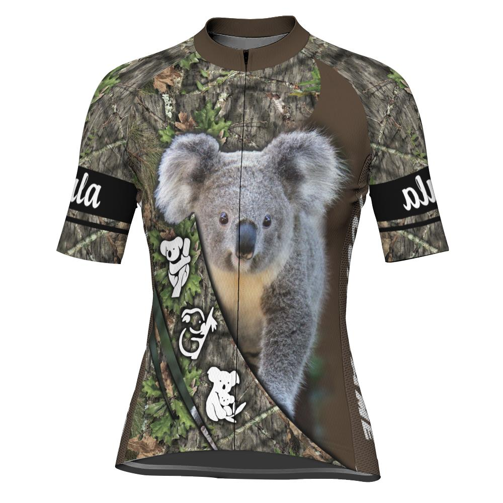 Customized Koala Short Sleeve Cycling Jersey for Women