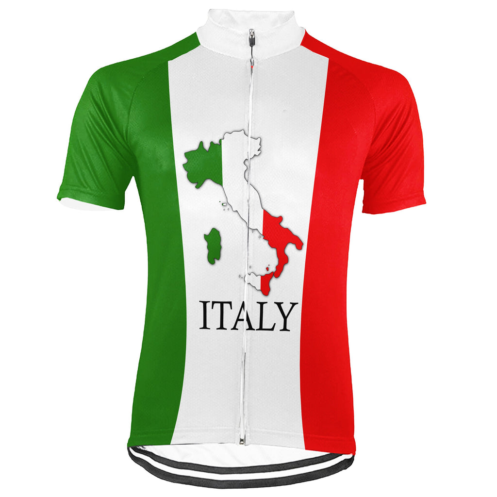 Customized Italia Short Sleeve Cycling Jersey for Men