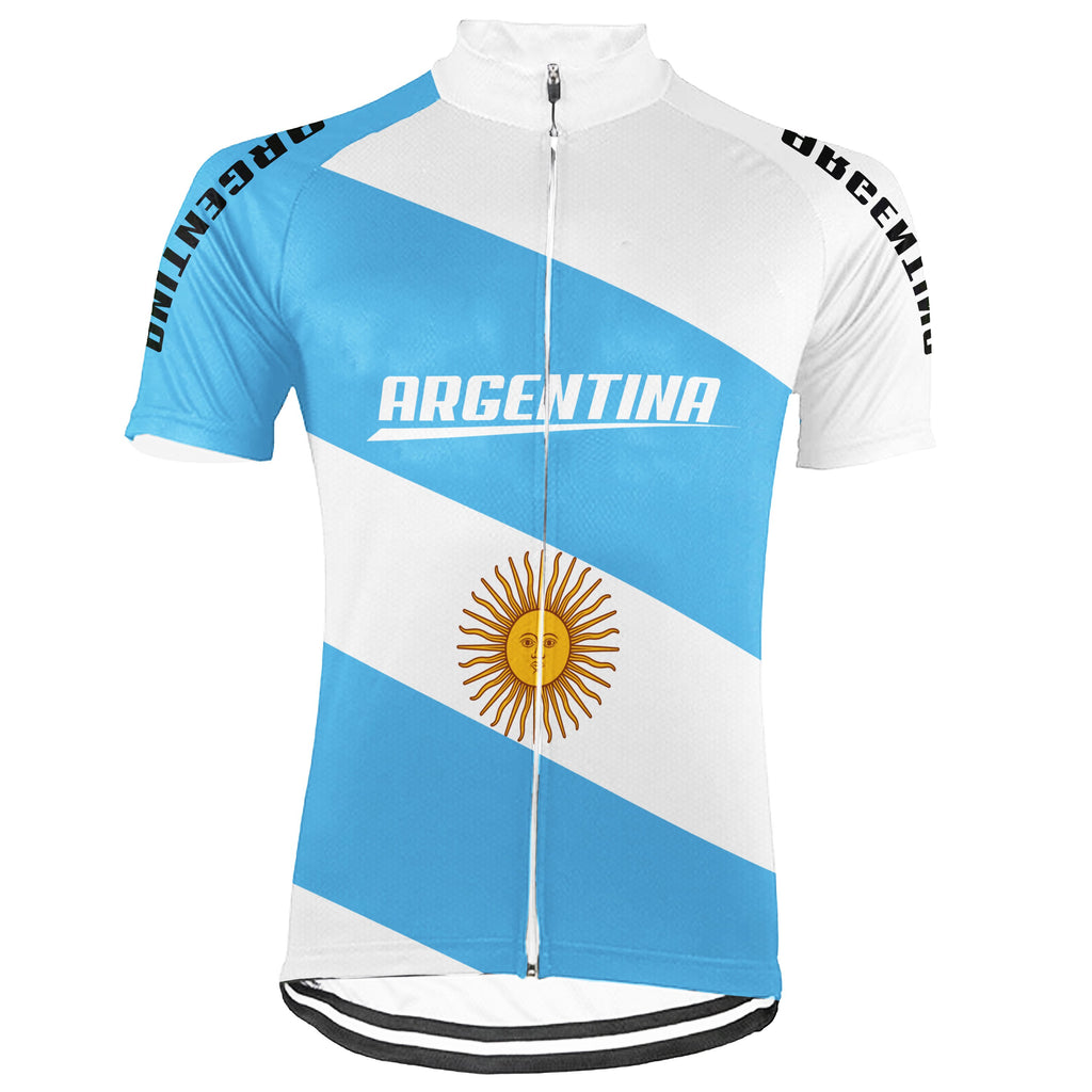 Customized Argentina Short Sleeve Cycling Jersey for Men