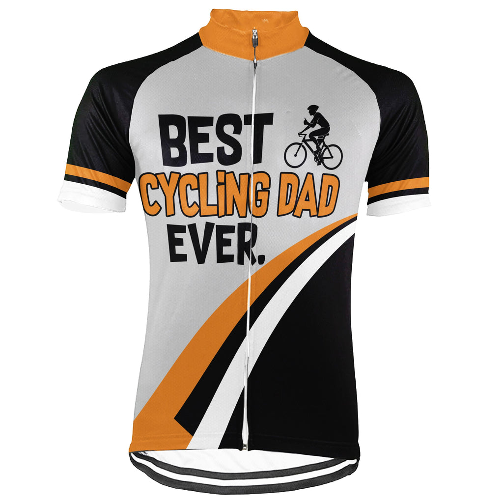 Customized Dad Short Sleeve Cycling Jersey for Men