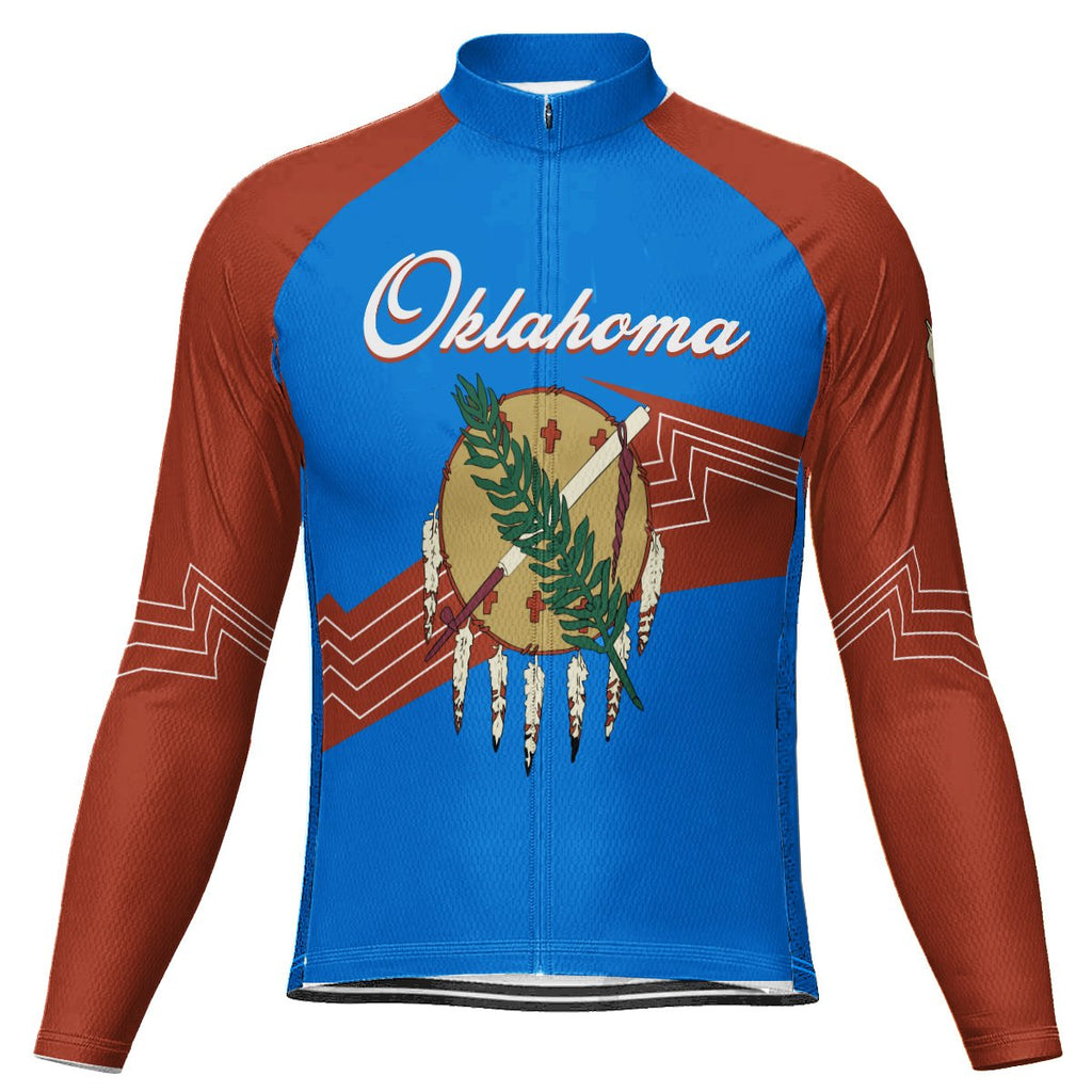 Customized Oklahoma Long Sleeve Cycling Jersey for Men