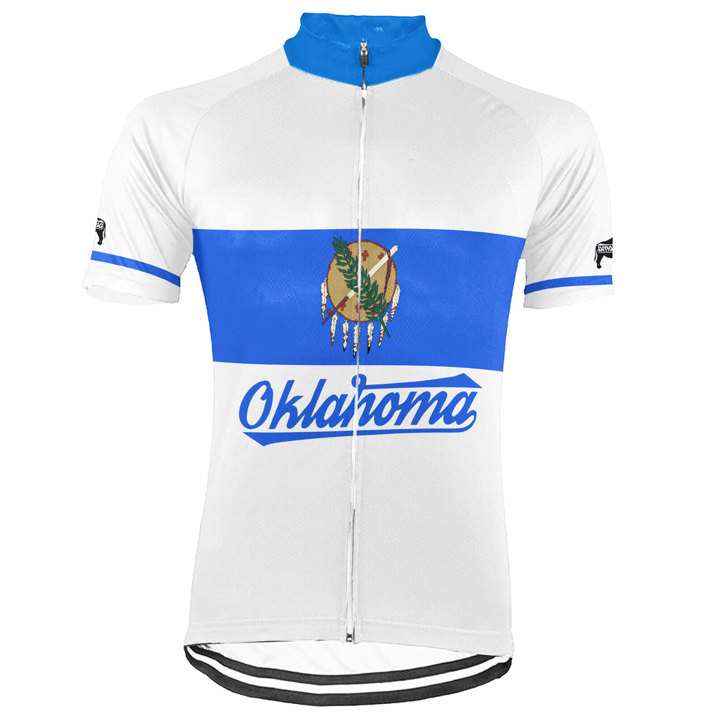 Customized Oklahoma Short Sleeve Cycling Jersey for Men
