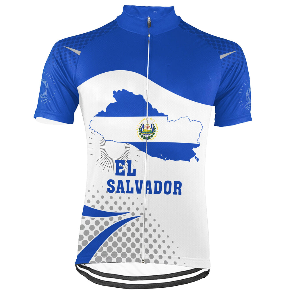 Customized El Salvador Short Sleeve Cycling Jersey for Men