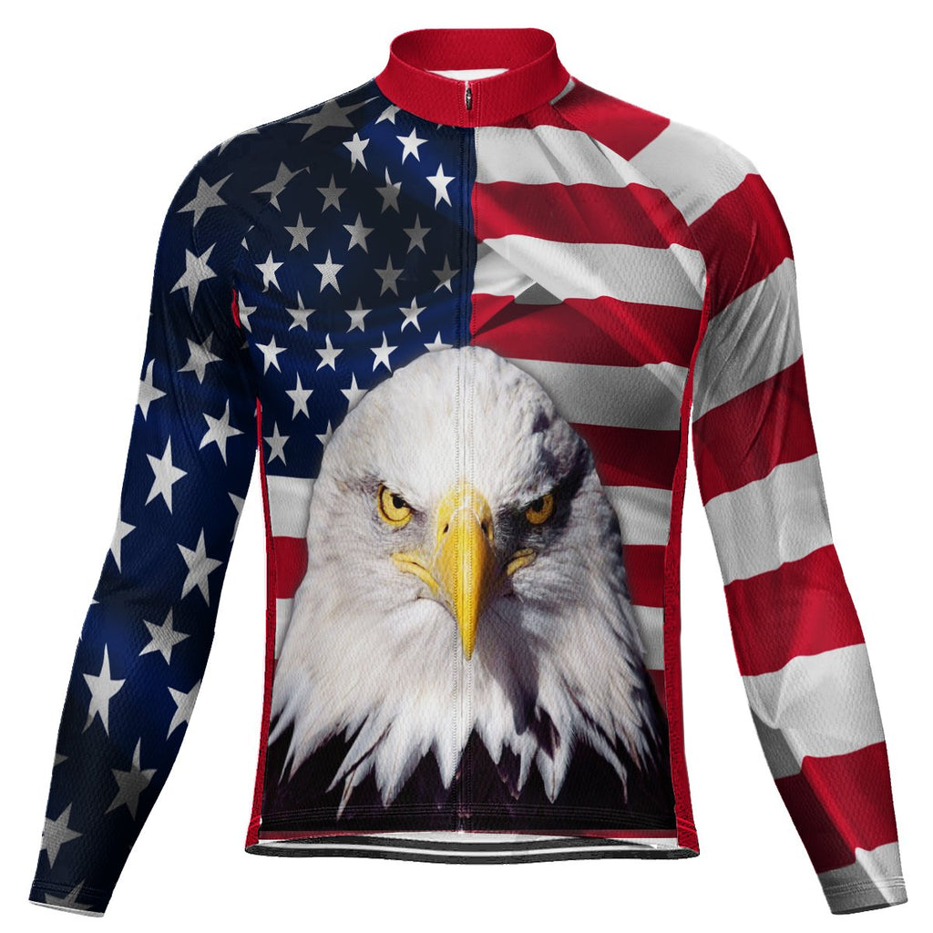 Customized Usa Winter Thermal Fleece Long Sleeve For Men