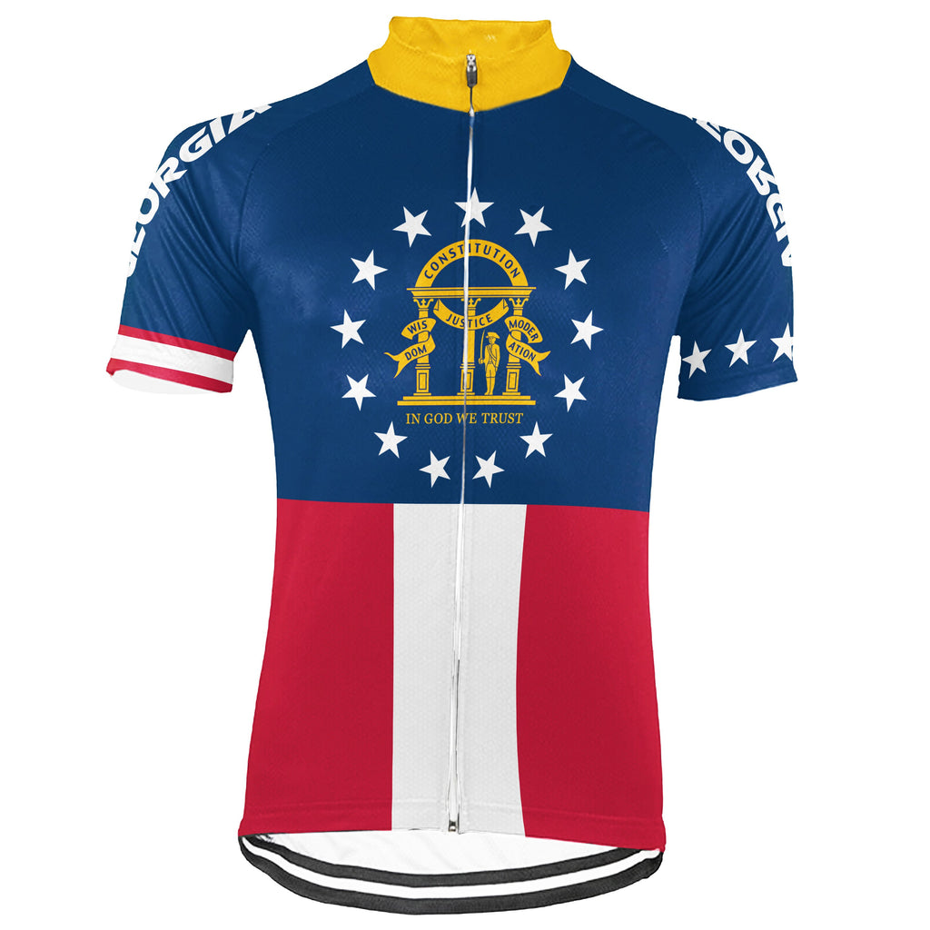 Customized Georgia Short Sleeve Cycling Jersey for Men