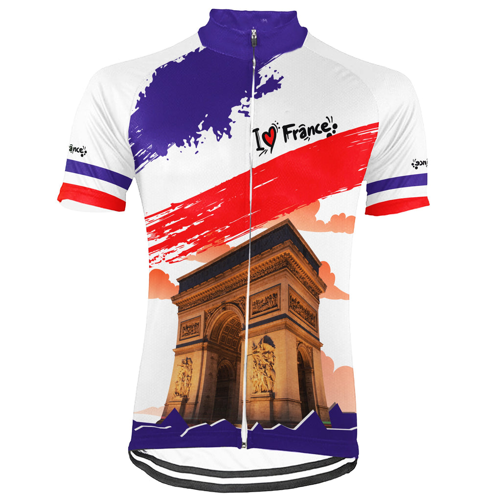 Customized France Short Sleeve Cycling Jersey for Men