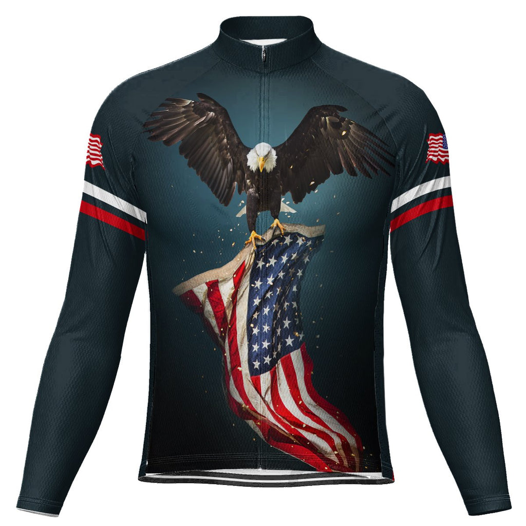 Customized Usa Long Sleeve Cycling Jersey for Men