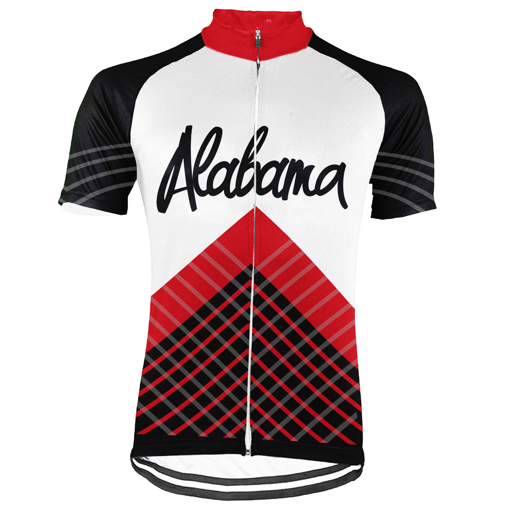 Customized Alabama  Short Sleeve Cycling Jersey for Men