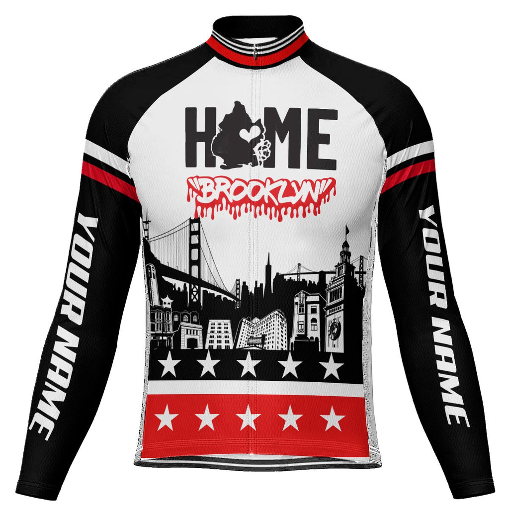 Customized Brooklyn Long Sleeve Cycling Jersey for Men
