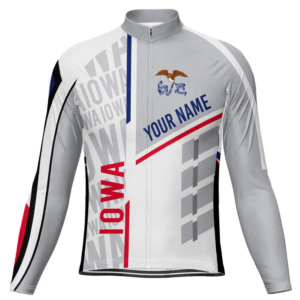 Customized Iowa Long Sleeve Cycling Jersey for Men