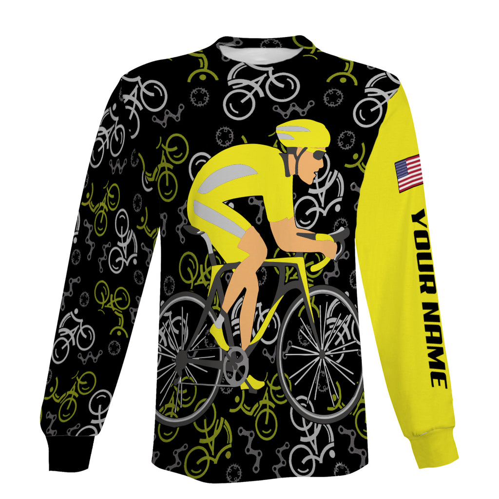 Cycling Shirts Full Printing For Men Personalized Long Sleeve, Zip Up Hoodie, and Hoodie