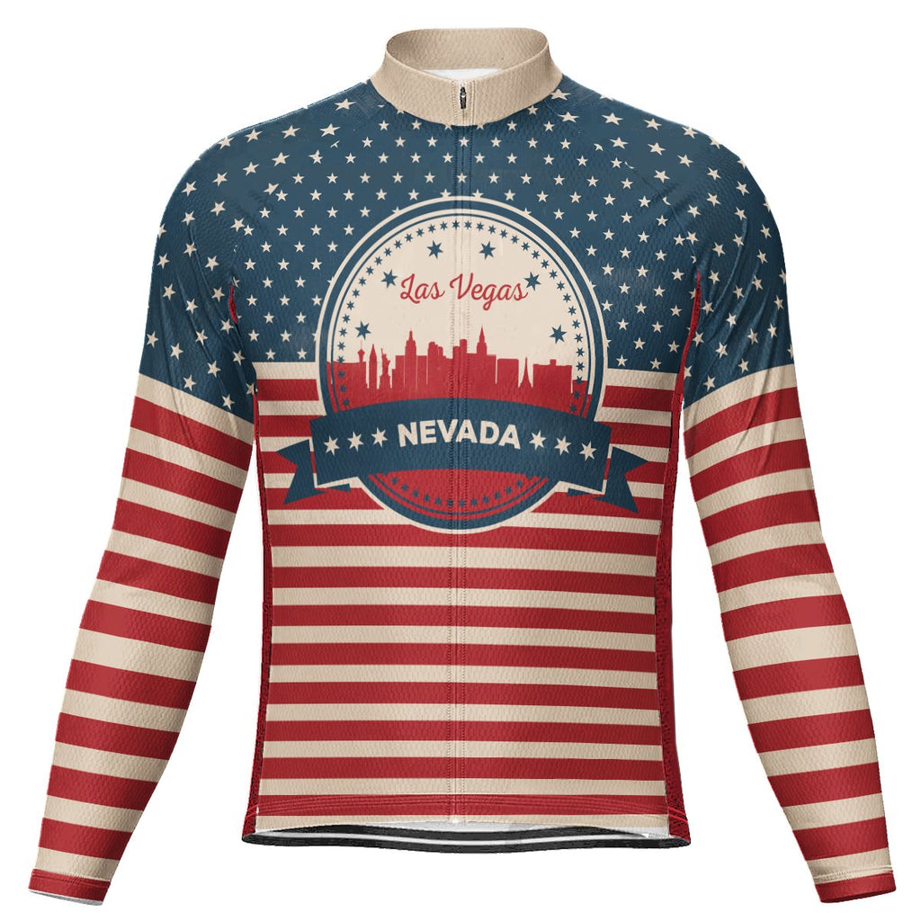 Customized Las Vegas Long Sleeve Cycling Jersey for Men